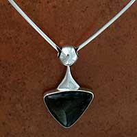 Obsidian choker, 'Aztec Arrow' - Obsidian choker