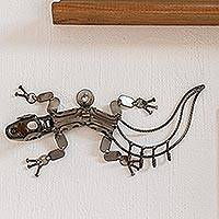 Auto part key rack, 'Rustic Gecko' - Auto part key rack