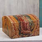 Decoupage decorative box, 'Guadalupe Mosaic'