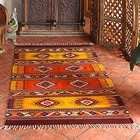 Zapotec Wool Rug, U0027Summeru0027s Dayu0027 (4.5x7)   Zapotec Wool Rug