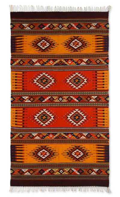 Zapotec wool rug, 'Summer's Day' (4.5x7) - Zapotec wool rug (4.5x7)