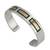 Men's gold accent cuff bracelet, 'Structures' - Men's Hand Made Taxco SilverGold Accent Cuff Bracelet (image p176365) thumbail