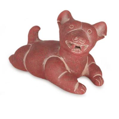 Ceramic figurine, 'Comala Dog' - Unique Mexican Archaeological Ceramic Dog Sculpture