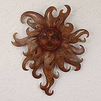 Steel wall art, 'Lady of the Sun' - Steel wall art