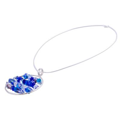 Dichroic art glass jewelry set