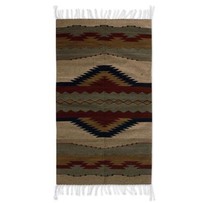 Zapotec wool rug (2.5x5)