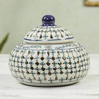 Ceramic jar, 'Sweet Innovation' (large) - Ceramic jar (Large)