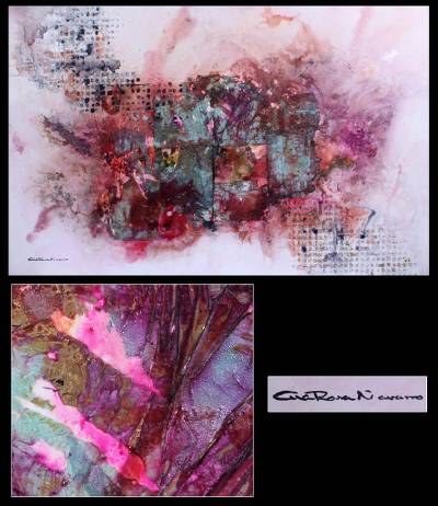 'Abstract Tree in Pink' (2010) - Floral Abstract Painting (2010)