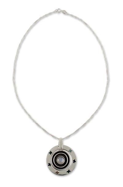 Labradorite Mexico Sterling Silver Pendant Necklace