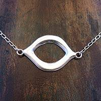 Sterling silver pendant necklace, 'Infinite Harmony' - Handcrafted Mexican Modern Sterling Silver Pendant Necklace