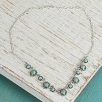 Turquoise flower necklace,