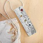 Women's Modern Sterling Silver Multigem Citrine Necklace, 'Taxco Harmony'