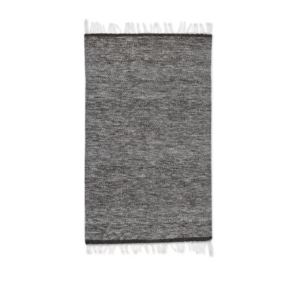 Zapotec wool rug, 'Gray Sky' (2x3.5) - Fair Trade Zapotec Tweed Wool Area Rug (2x3.5)