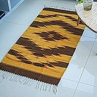 Zapotec wool rug, 'Dunes' (2.5x5) - Zapotec wool rug (2.5x5)