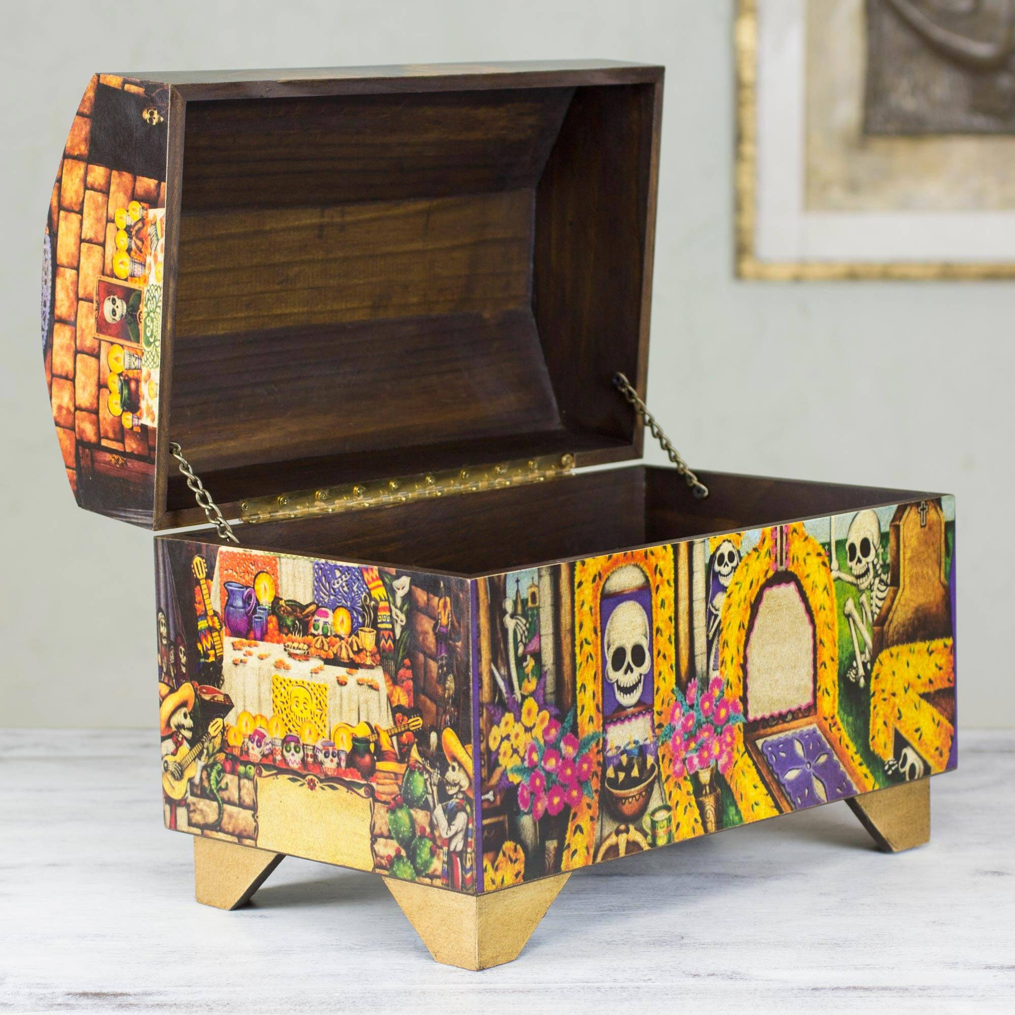Decoupage Chest Day Of The Dead