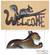 Steel welcome sign, 'Busy Squirrel' - Steel Welcome Sign Outdoor Living thumbail