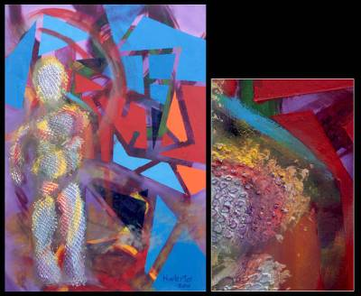 'Man and His Paths' (2010) - Expressionist Painting from Mexico (2010)