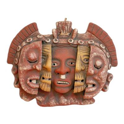 Aztec Archaeological Ceramic Mask