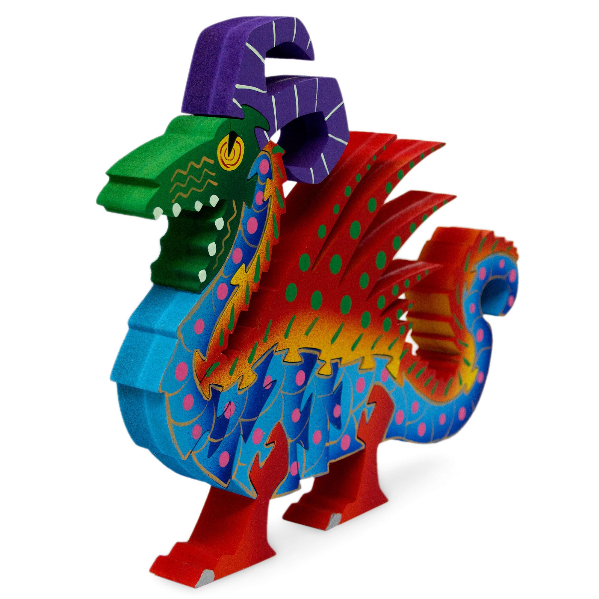 Wood display jigsaw puzzle, 'Mischievous Dragon'