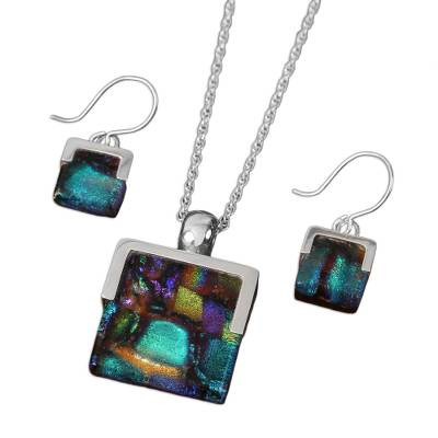 Art glass jewelry set