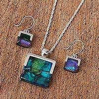 Art glass jewelry set,