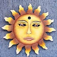 Steel wall art, 'Oaxaca Sun' - Steel wall art