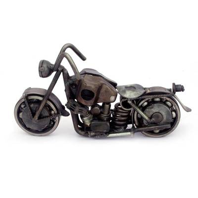 Handcrafted Rustic Sculpture of Recycled Auto Parts
