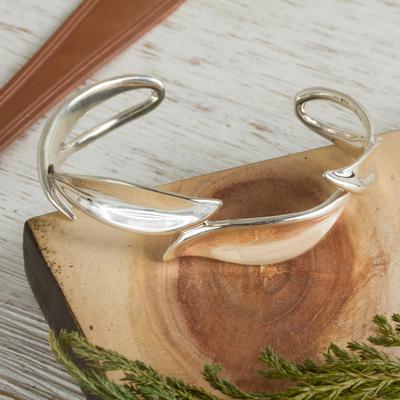 Sterling silver cuff bracelet, 'Alliance' - Sterling silver cuff bracelet