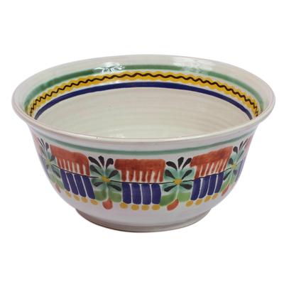 Majolica ceramic serving bowl u0027Acapulcou0027 - Authentic Mexican Majolica Ceramic Bowl Dinnerware  sc 1 st  NOVICA & Authentic Mexican Majolica Ceramic Bowl Dinnerware - Acapulco | NOVICA