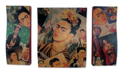 decoupage wall art triptych decoupage wall art