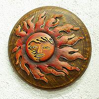 Iron candleholder, 'Ixtapa Sun' - Iron candleholder