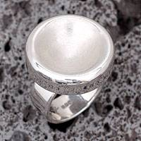 Sterling silver cocktail ring, 'In a Mirror' - Mexico Modern Sterling Silver Cocktail Ring