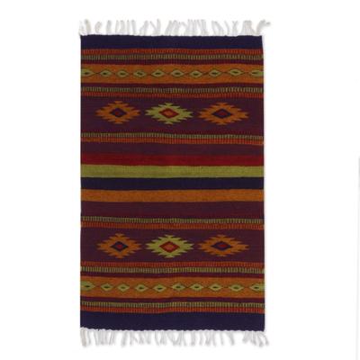 Authentic Handwoven Zapotec Area Rug (2x3.5)