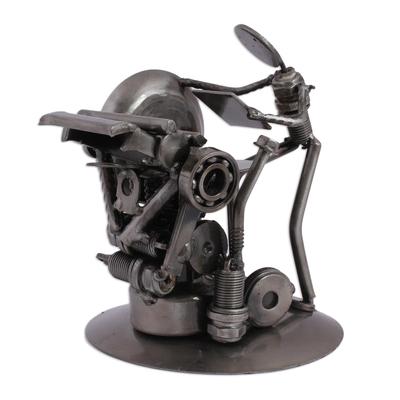 Recycled metal sculpture, 'Rustic Printer' - Recycled Metal Offset Print Unique Sculpture from Mexico