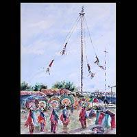 'Traditions of the Soul' - Mexico Papantla Flyers Painting