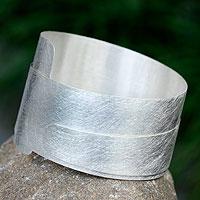 Sterling silver wrap bracelet,