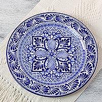 Talavera ceramic plate, 'Empress' - Talavera ceramic plate
