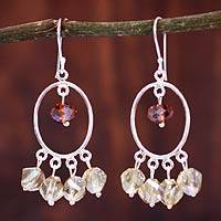 Sterling silver chandelier earrings, 'Silao Morning' - Sterling silver chandelier earrings