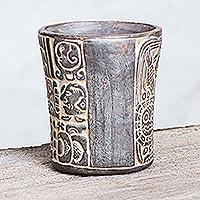 Ceramic vase, 'Maya Commemoration'