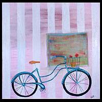'The Bicycle' - Modern Still Life Painting