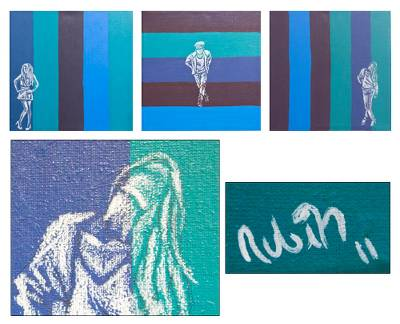 'Runway' (triptych) - Mexican Modern Freestyle Paintings (Triptych)