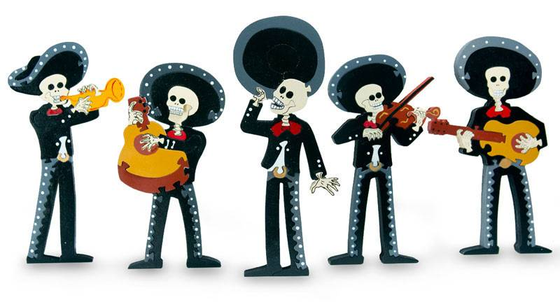 Mariachi Band Instruments Clip Art Wood display jigsaw puzzle, 'day of ...