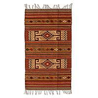 Zapotec wool rug, 'My Oaxaca' (2x3) - Handcrafted Zapotec Wool Area Rug from Mexico (2x3)