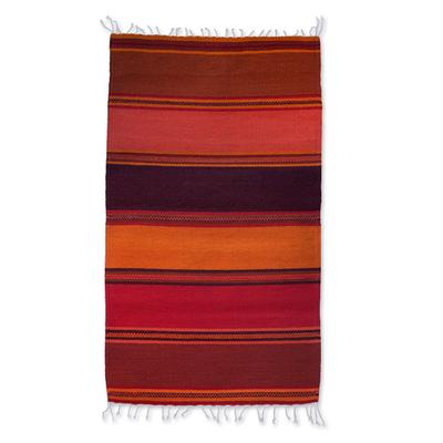 Zapotec wool rug, 'Teotitlan Dusk' (2x3) - Modern Artisan Crafted Zapotec Rug (2x3)