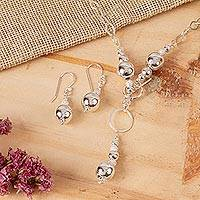Sterling silver jewelry set, 'Moon Over Chapala'