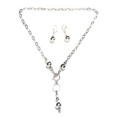 Sterling silver jewelry set, 'Moon Over Chapala' - Mexico Handcrafted 925 Sterling Silver jewellery Set Taxco