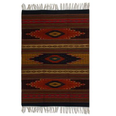 Artisan Crafted Geometric Wool Area Rug (4x6)
