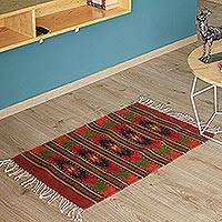 Zapotec wool rug, 'Eagle Wings' (2x3.5) - Zapotec wool rug (2x3.5)