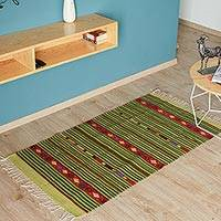 Zapotec wool rug, 'Life's Paths' (2.5x5) - Zapotec wool rug (2.5x5)