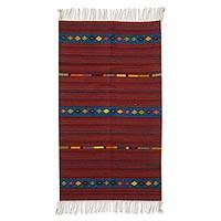 Zapotec wool rug, 'Life's Roads' (2.5x5) - Hand Crafted Mexican Zapotec Wool Area Rug (2.5x5)